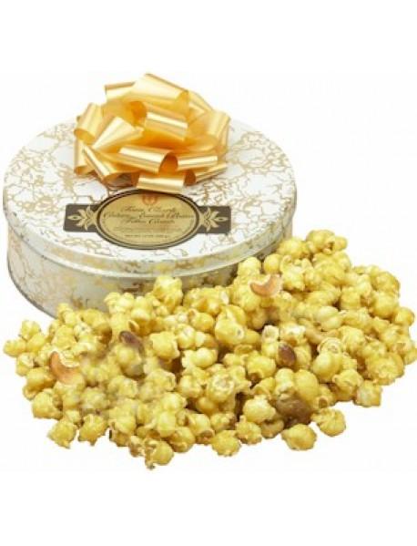 Gift Tin Cashew Almond Butter Toffee Corn 14 oz.