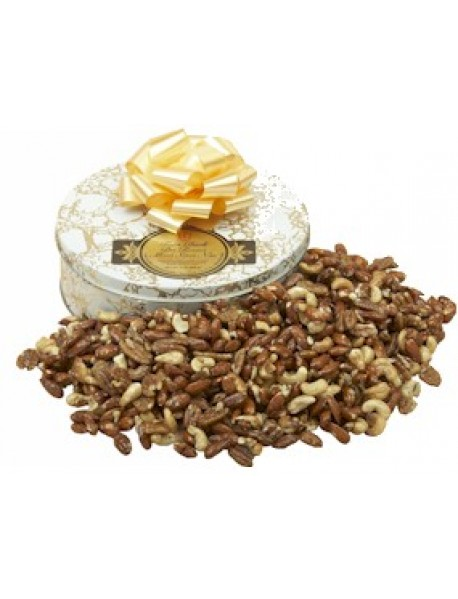 Gift Tin Mixed Salted Nuts - 1 lb